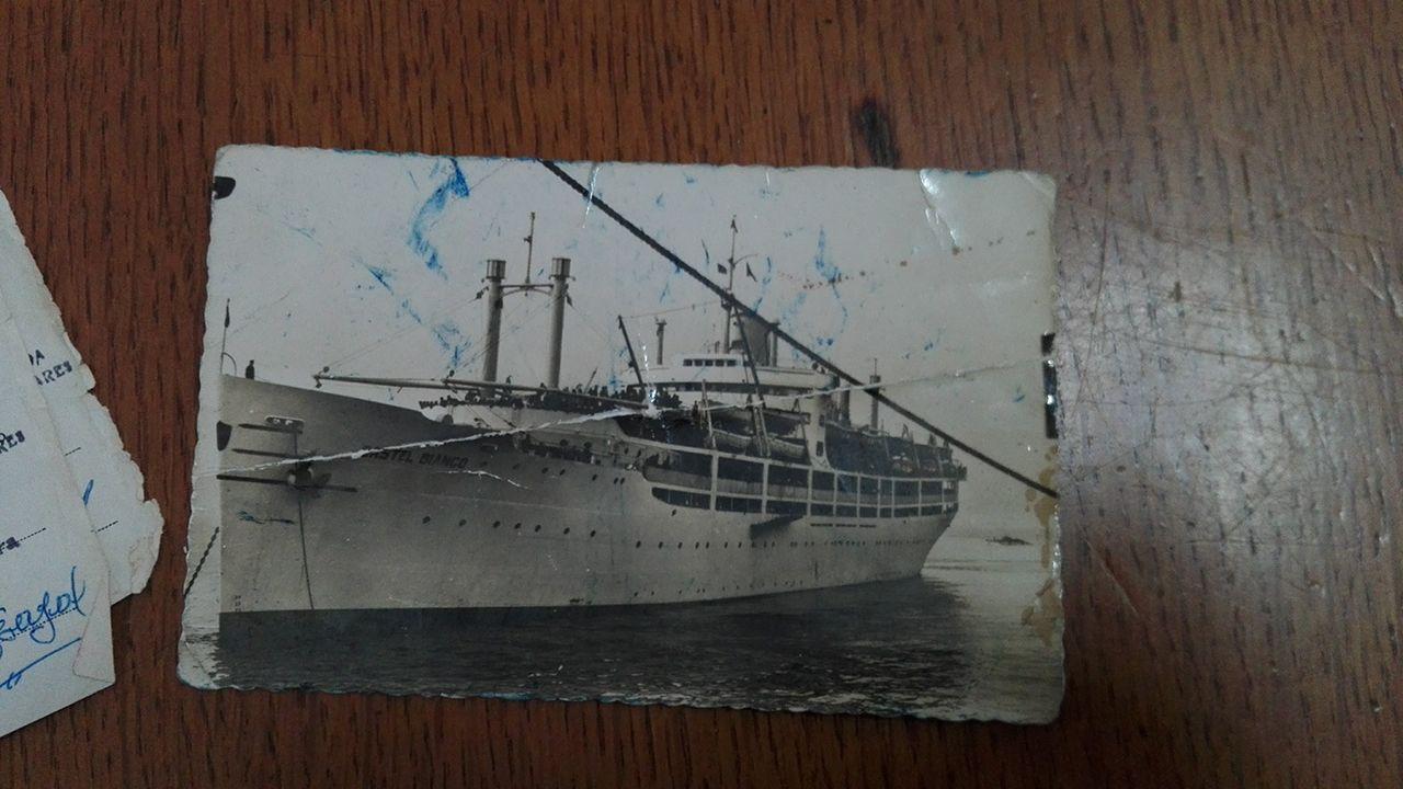 Crucero en el que volvió de Montevideo la familia de Nieves Méndez.