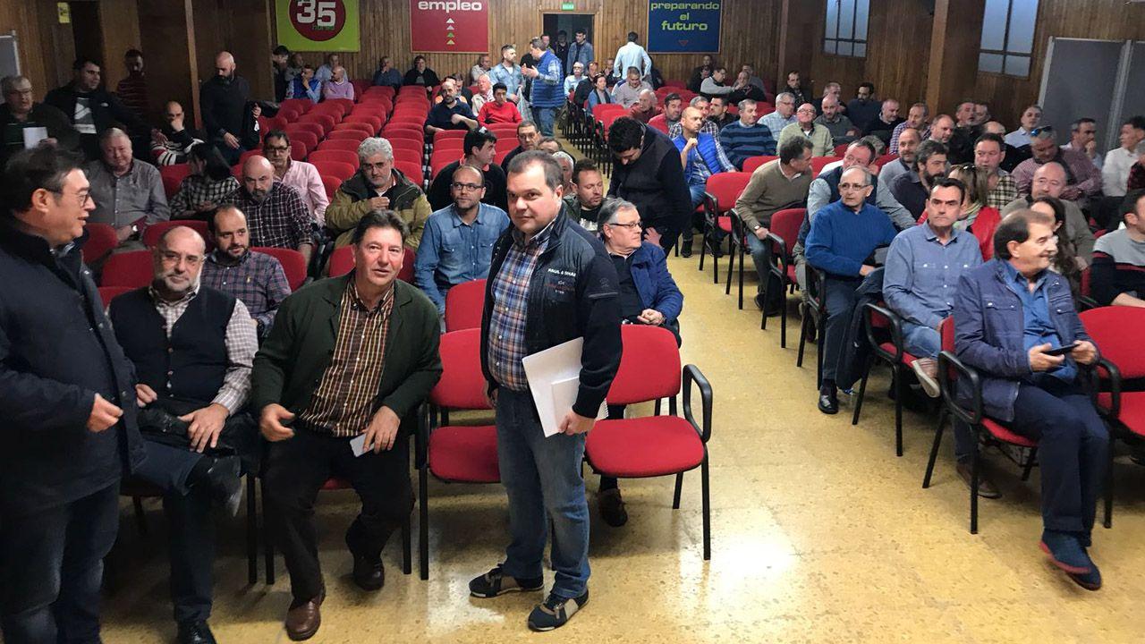 Alperi, en la asamblea. /CARMEN LIEDO