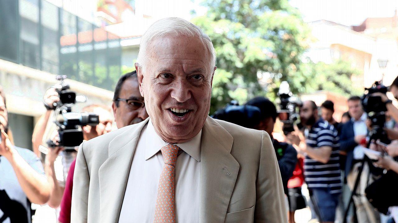 .José Manuel García-Margallo también presentó su candidatura a la presidencia pero cayó en la primera vuelta