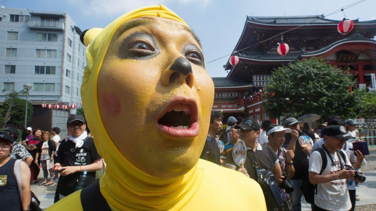 Participante de la Cumbre Mundial de Cosplay de Nagoya en Japon. Participantes de mas de 20 pai´ses acuden al evento disfrazados de personajes manga y anime.