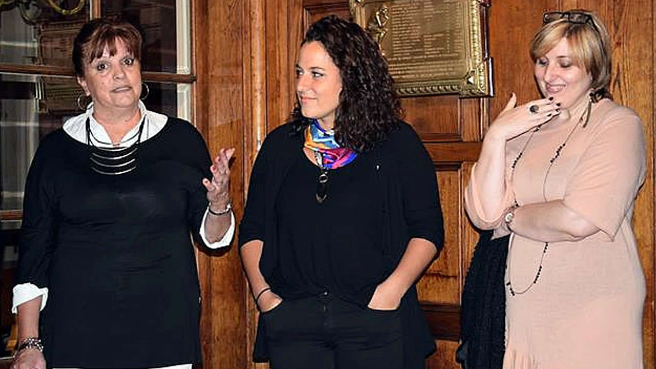 De izquierda a derecha, Hebe Mabel Otreo, Romina Franceschin e Inés Martínez