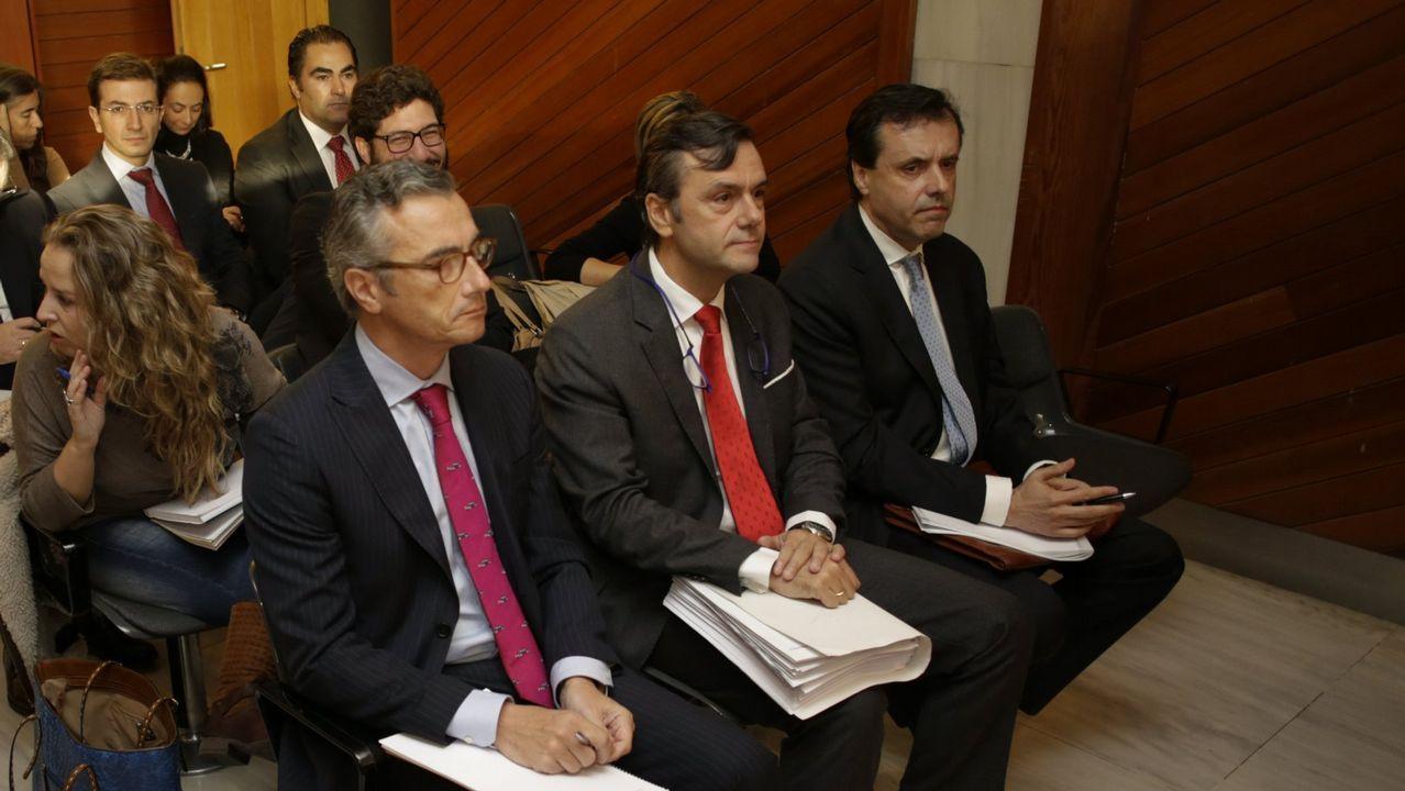 .Roberto Tojeiro, presidente de Gadisa (en el centro de la foto), durante el juicio