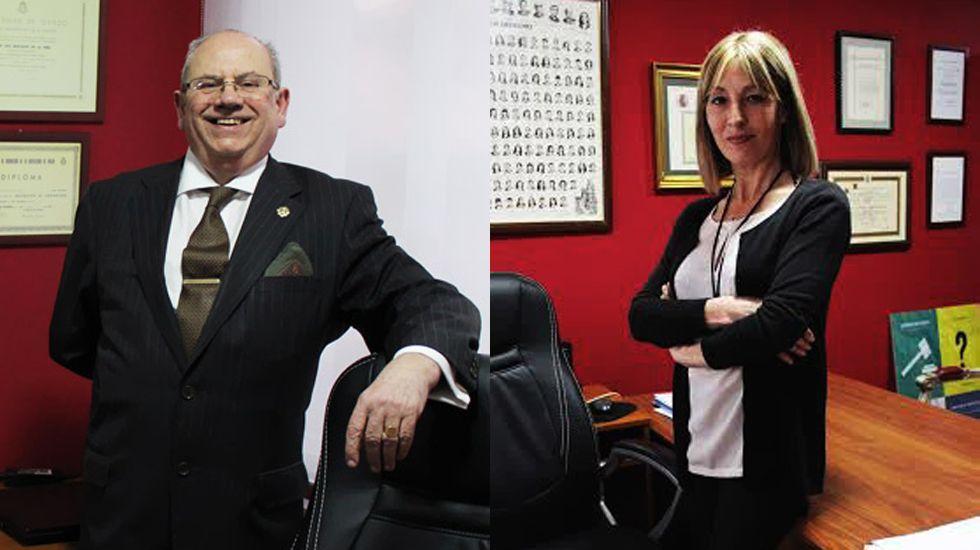 «Juan Sin Miedo», un asturiano contra el clima de Mongolia.Joaquín Mastache e Inés Pañeda, en su despacho de Oviedo