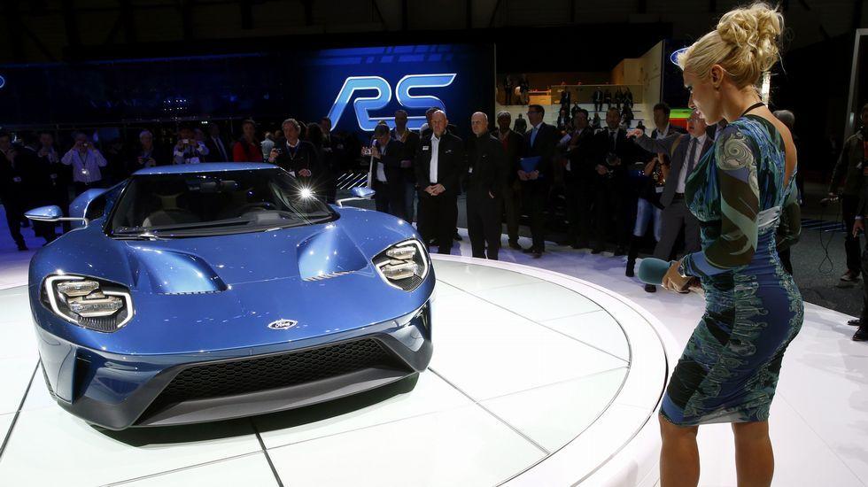 Presentación del nuevo Ford GT en Ginebra.