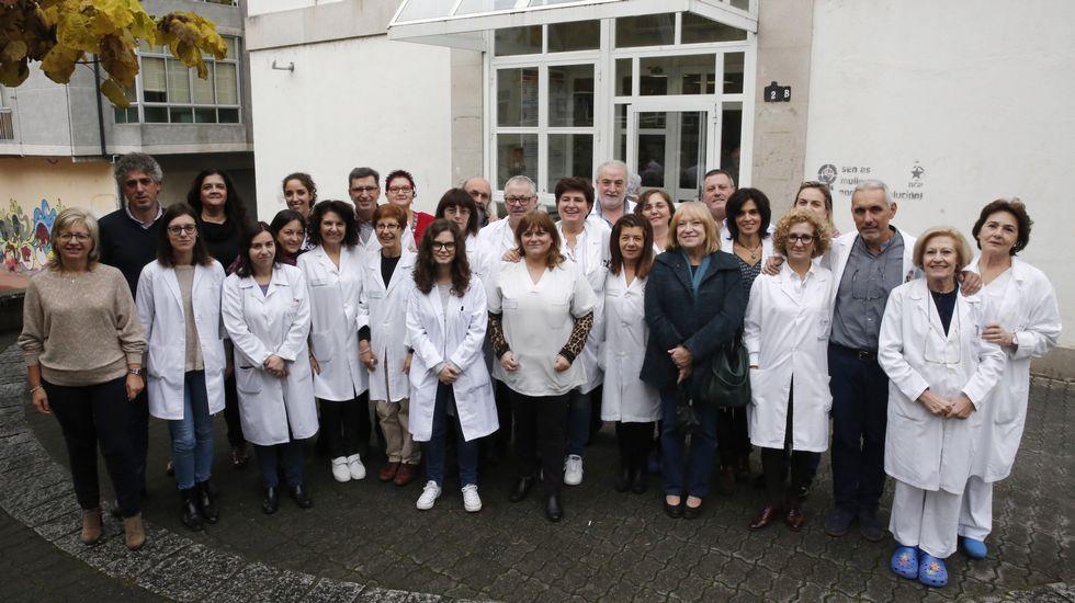 Pacientes en el HUCA.Opositores del Sespa a la salida de la prueba
