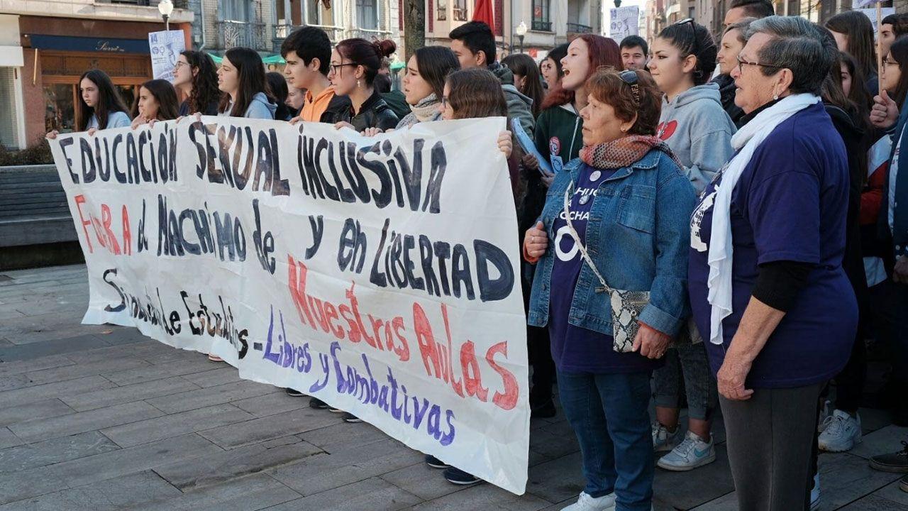 Con el Sindicato de Estudiantes en la manifestación de noviembre contra el machismo, en Gijón