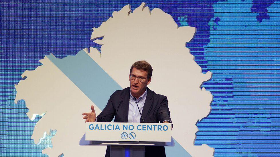 En Marea busca un frente común contra el PP.Feijoo, con Tellado en Santiago