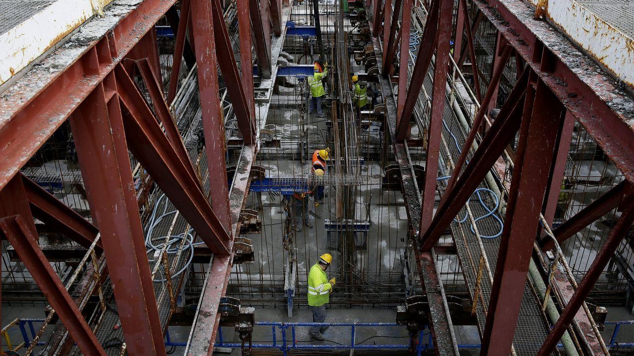 Así se construye en Langosteira el puerto de Aberdeen.