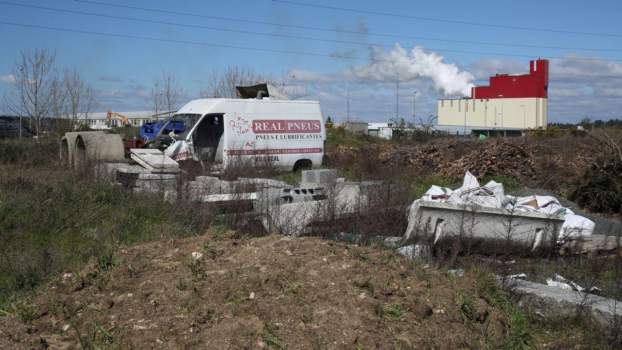 Los escombros de la construcción.