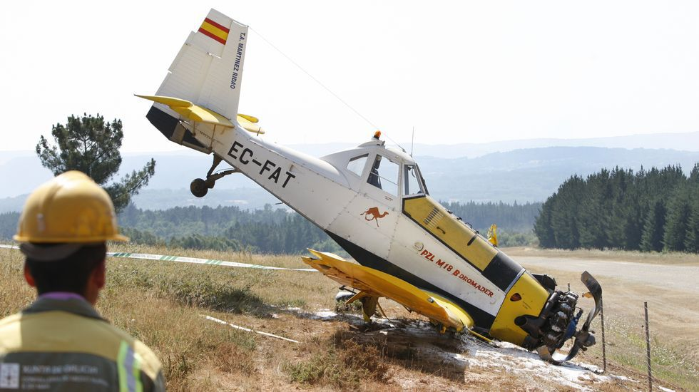 Accidente de un avión contra incendios en Doade