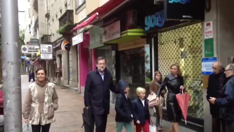 Rajoy pasa la Navidad en casa de su suegra
