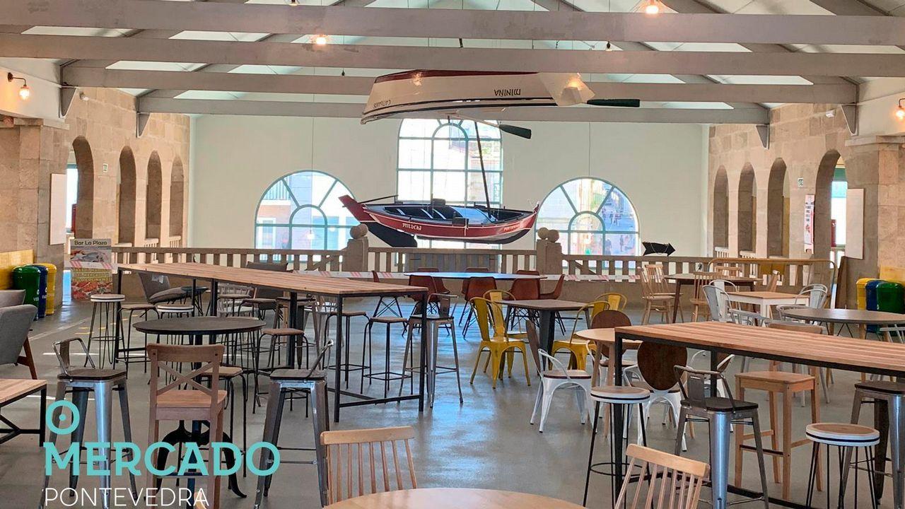 Así será el espacio gastronómico del Mercado de Pontevedra.CRISTIAN RODRÍGUEZ