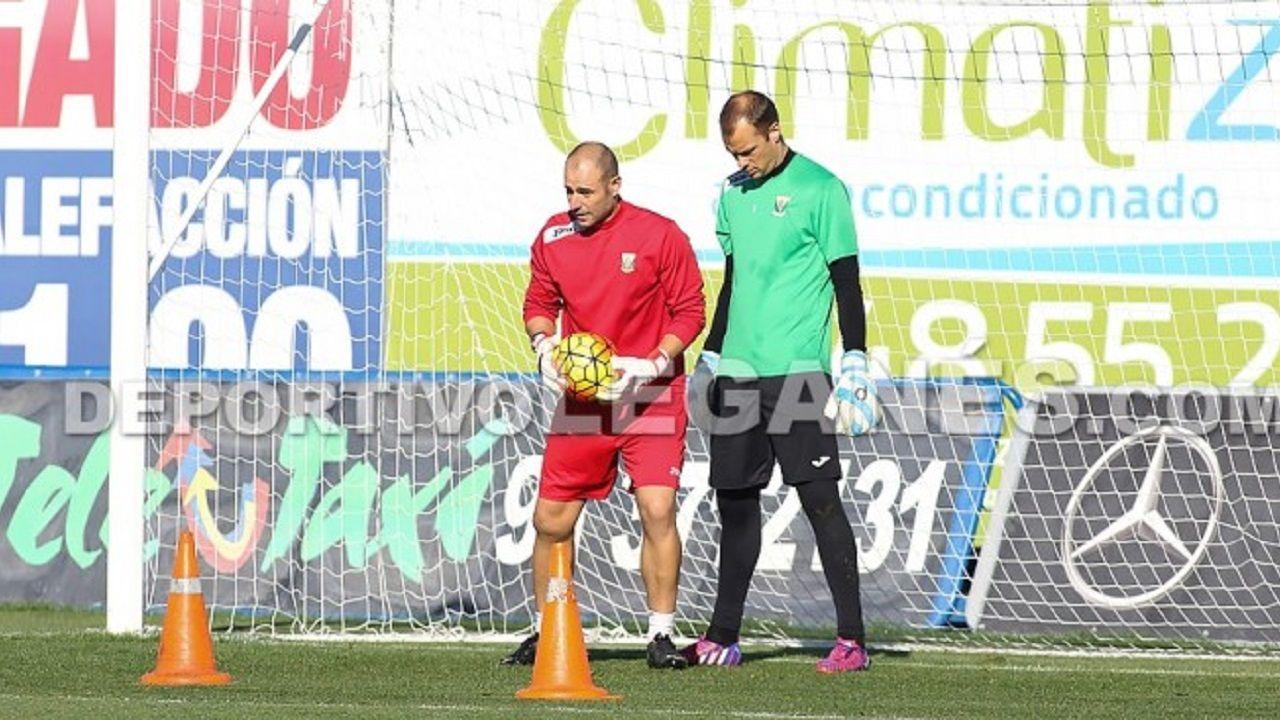 Carlos Sánchez y Queco Piña en un entrenamiento