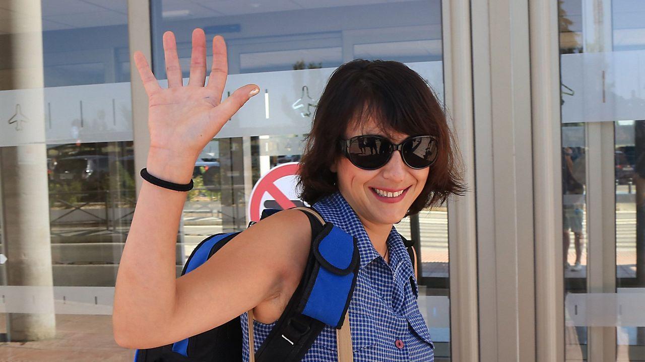 Juana Rivas, antes de viajar a Cerdeña para ver a sus hijos