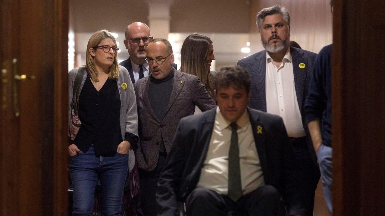 El expresidente catalán Carles Puigdemont durante una rueda de prensa hoy en la delegación de la Generalitat en Berlín