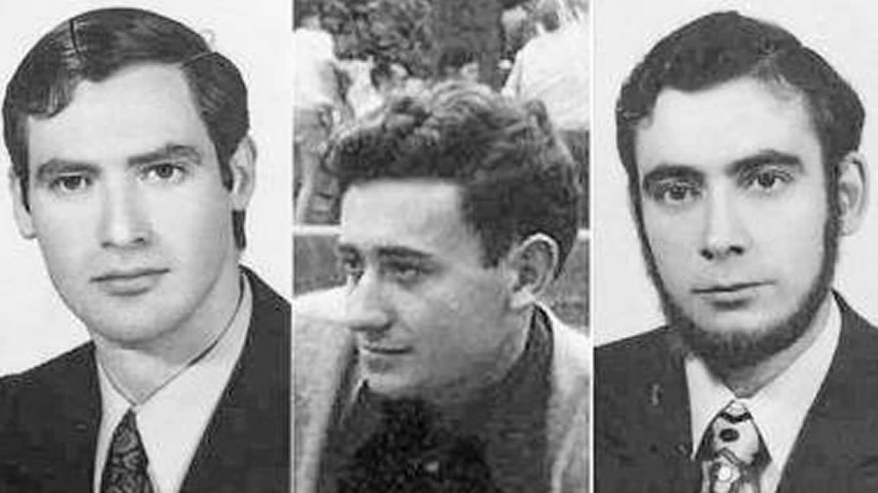 ETA reconoce el daño causado y asegura que lo siente «de veras» al hablar de las víctimas.De izquierda a derecha, Humberto Fouz, Jorge García y Fernando Quiroga