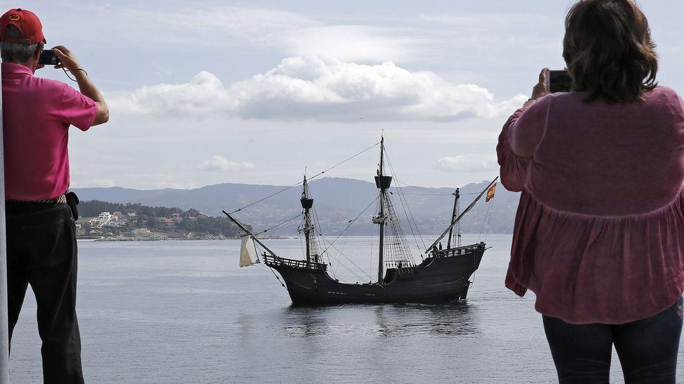 La nao Victoria exhibe en Sanxenxo la vida a bordo de un barco hace cinco siglos.