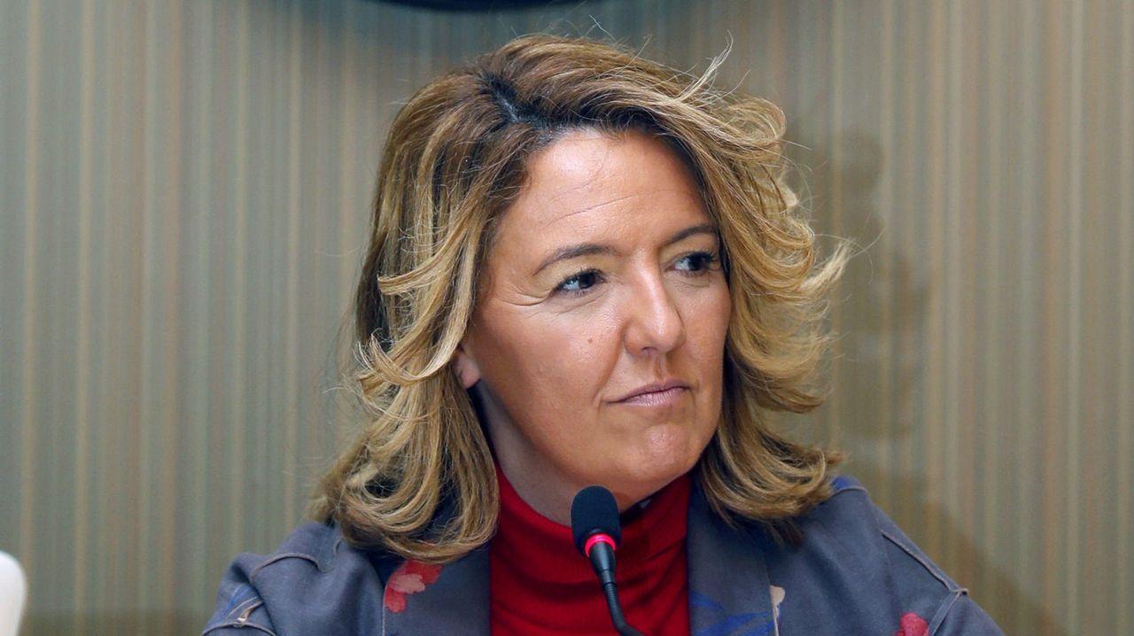 Adrián Barbón, en la «carretera».La candidata del PP al Gobierno del Principado, Teresa Mallada, durante la presentación su página web