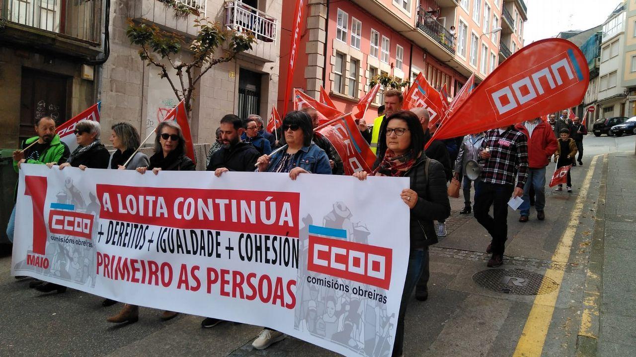 Las imágenes del 1 de mayo en A Coruña