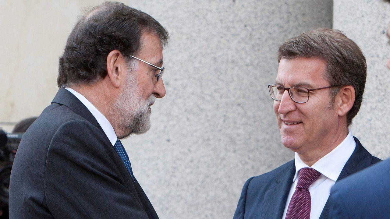 Una de las últimas imágenes de Feijoo junto a Rajoy, el pasado 21 de mayo.