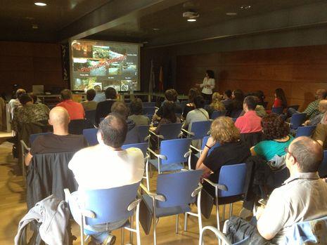 Intervención de la profesora de la Universidade de Santiago, Paz Ondina, sobre el mejillón de río en el Mandeo