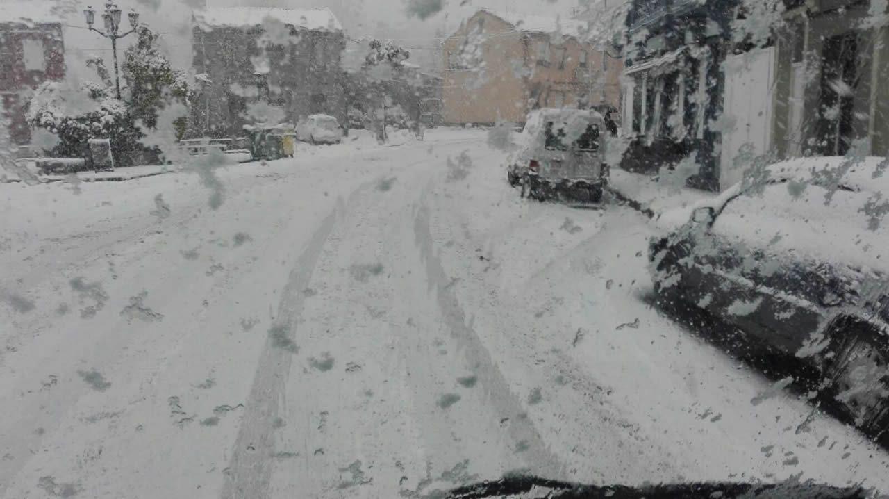 Nieve en Teixeiro
