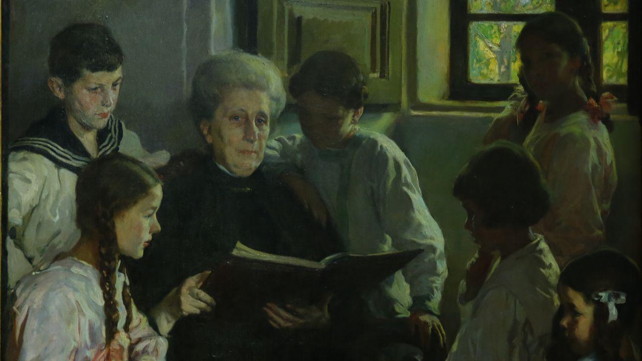 Detalle de «Abuela y nietas», de Sotomayor