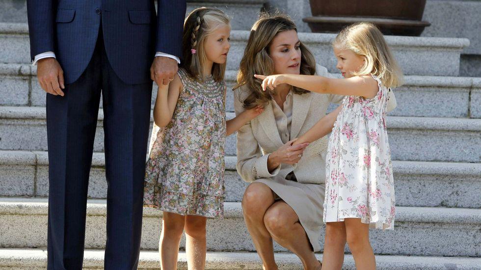 .En la visita del papa Benedicto XVI a Zarzuela en agosto del 2011.