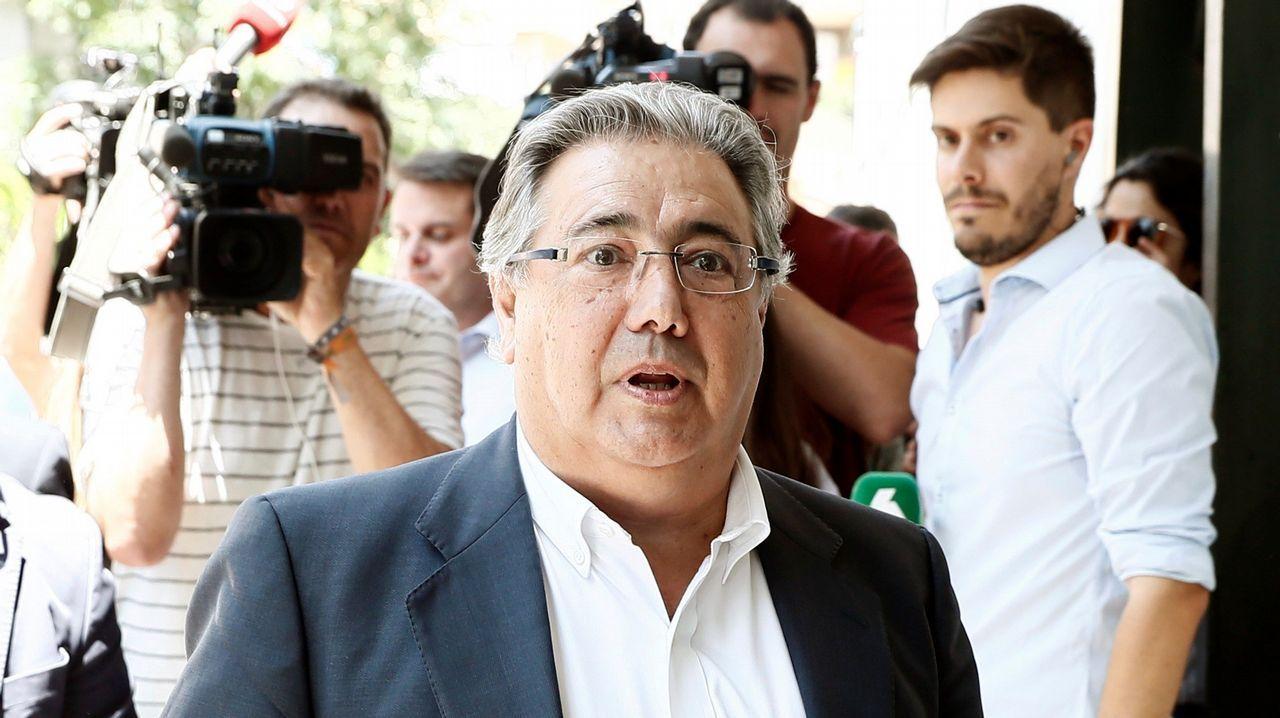 .El exminitro del Interior, Juan Ignacio Zoido a su llegada al almuerzo