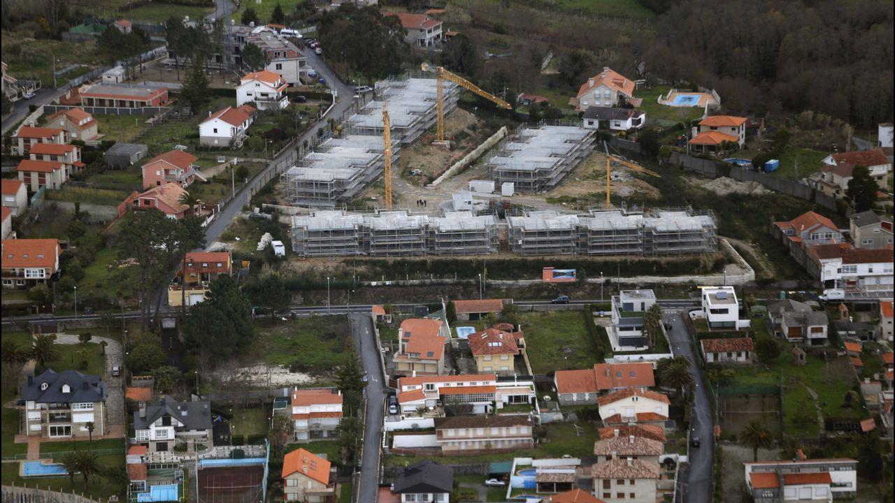 .La construcción en Sanxenxo se ha reactivado
