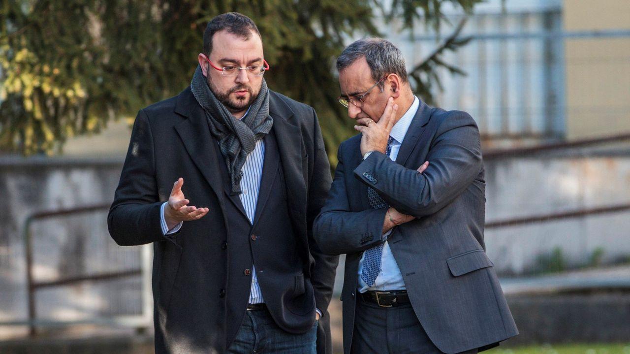 Adrián Barbón y Fernando Lastra