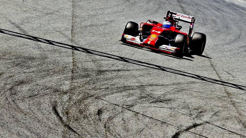 El Gran Premio de España, en fotos.Maldonado, durante el GP de España