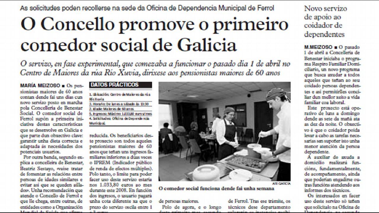 Ferrol promov a el primer comedor social gallego for Proyecto comedor social