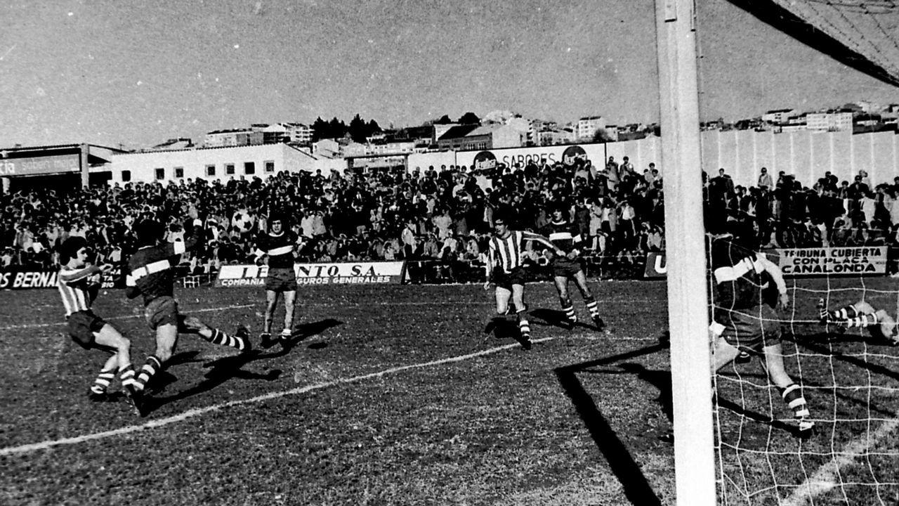 Partido del CD Lugo en octubre de 1974