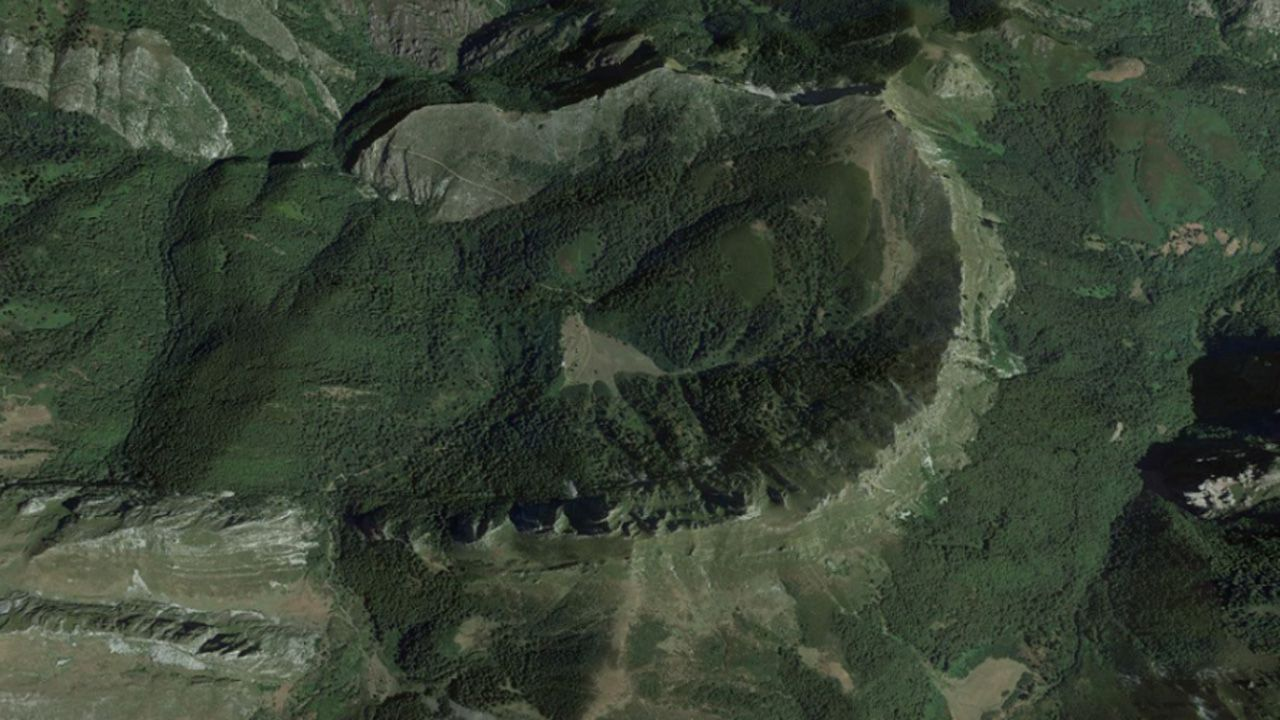 Imágen aérea de Brañagallones