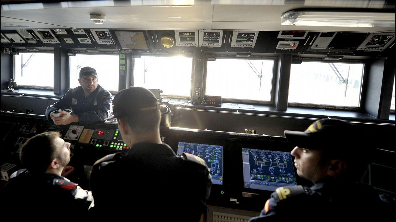 Dos unidades ferrolanas en un ejercicio histórico de la OTAN.Manuel Garat, en su etapa como almirante del Arsenal de Ferrol