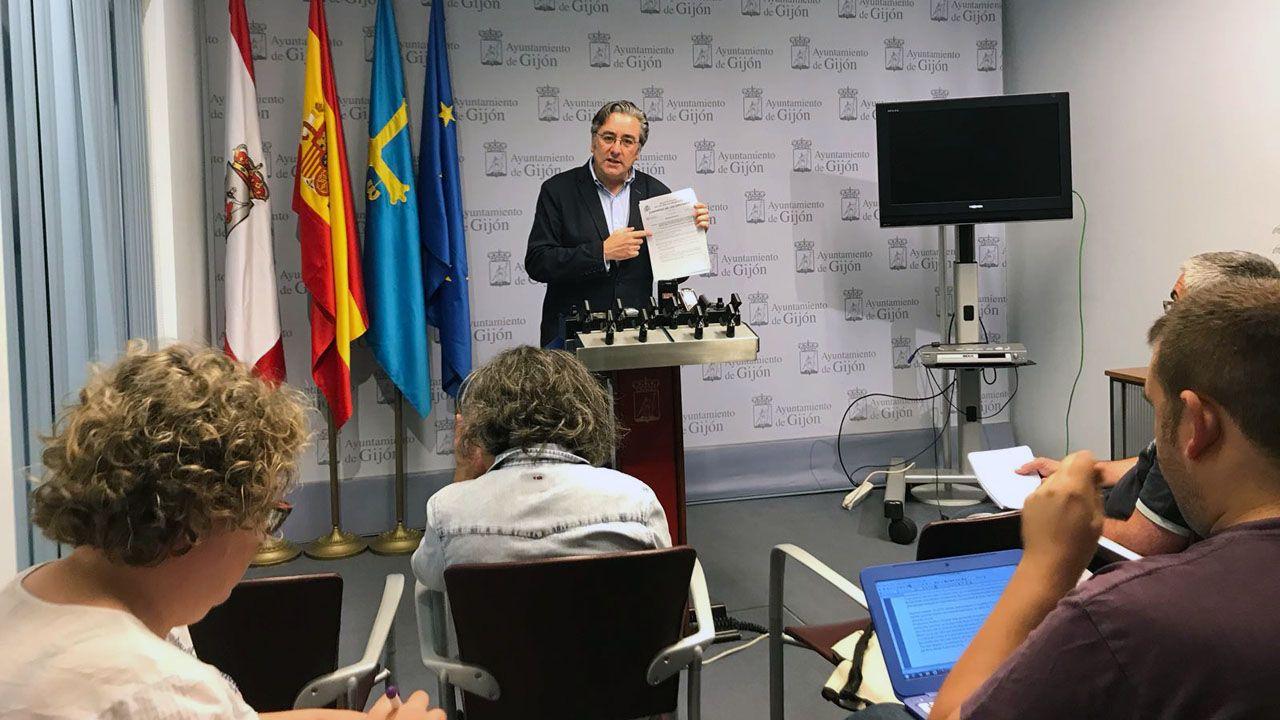 El portavoz del PP de Gijón, Pablo González