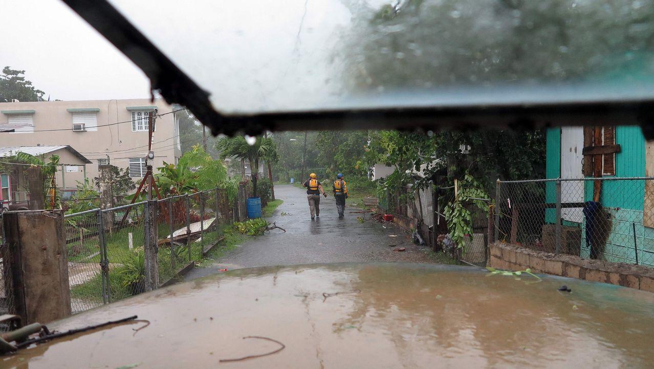 Labores de rescate en Puerto Rico.