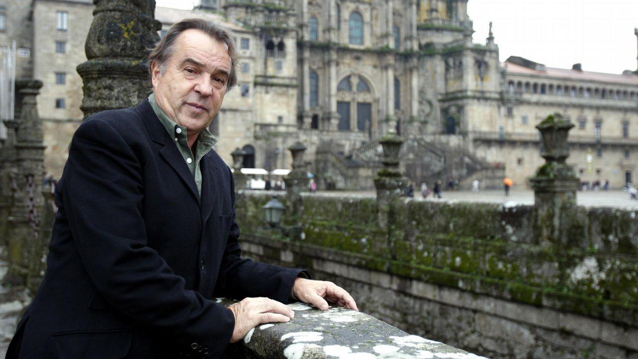 Tito Vázquez, durante una visita a Galicia