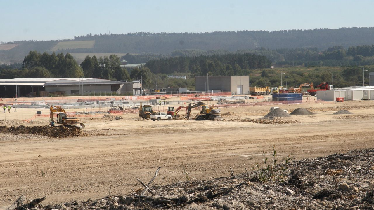 Obras para la planta de biomasa de Greenalia en Teixeiro-Curtis