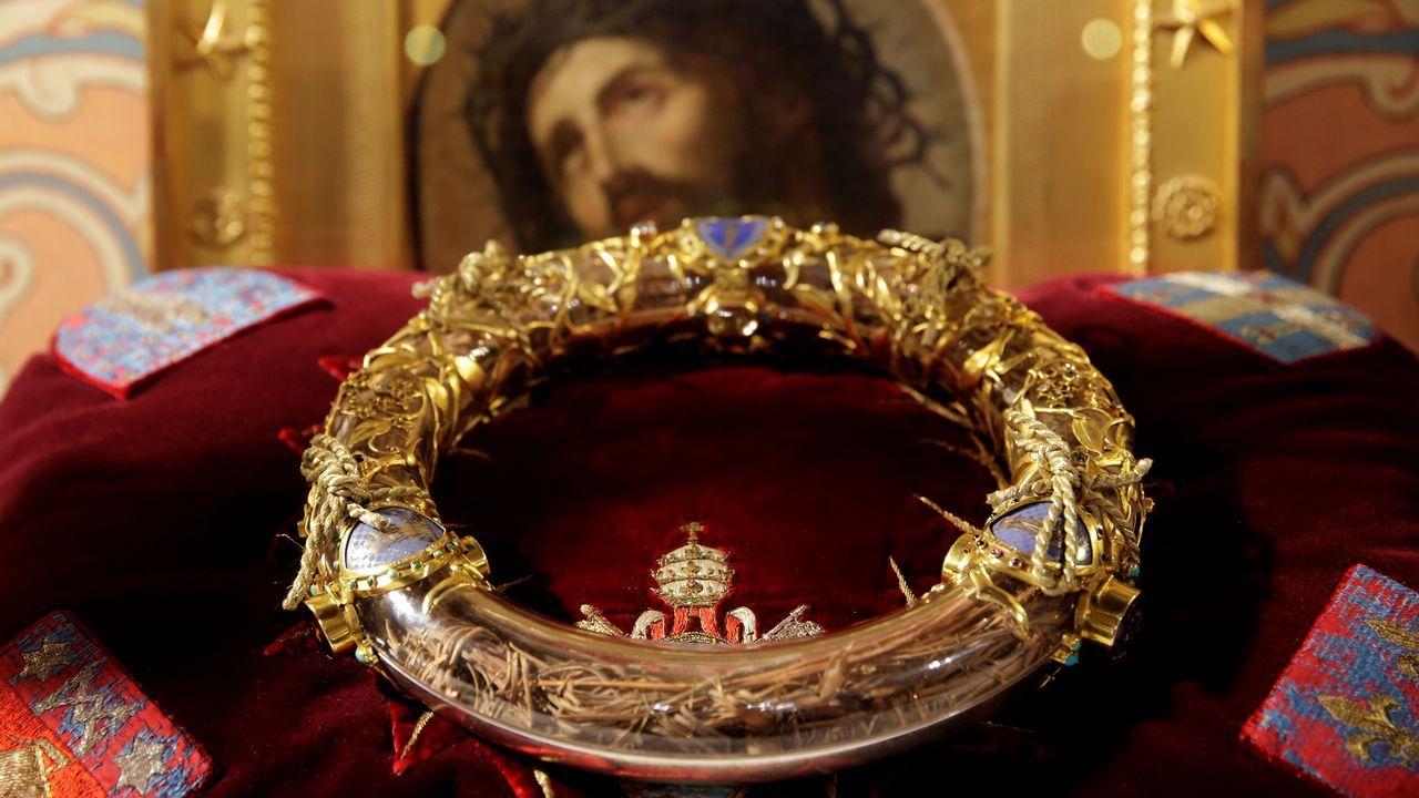 La corona de espinas que habría portado Jesús de Nazaret en el momento de la crucifixión