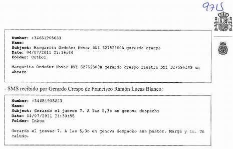 <span lang= es-es >En el sumario</span>. Los documentos de la operación Zeta recogen los correos de Crespo con Traballo y con el «conseguidor».