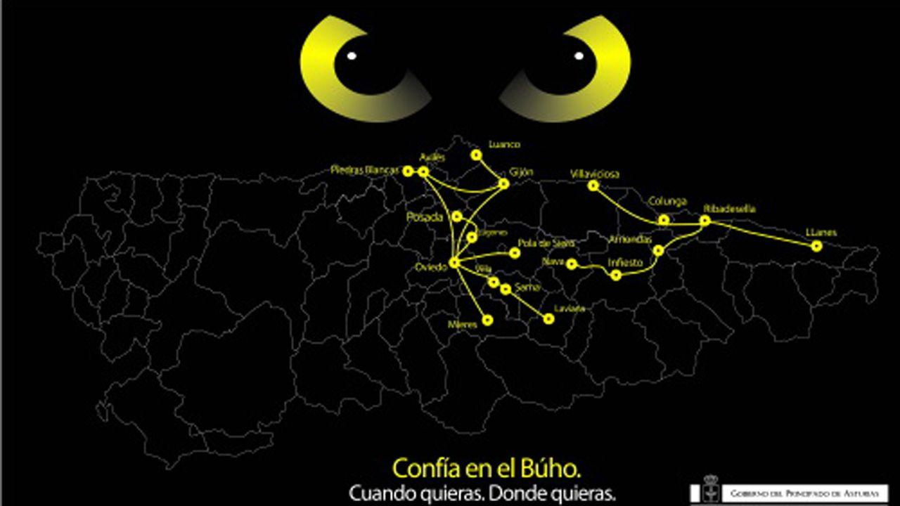 Servicio nocturno (Búho) CTA.Imagen promocional del servicio nocturno de CTA