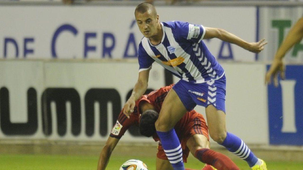 Sergio Tejera con el Alavés