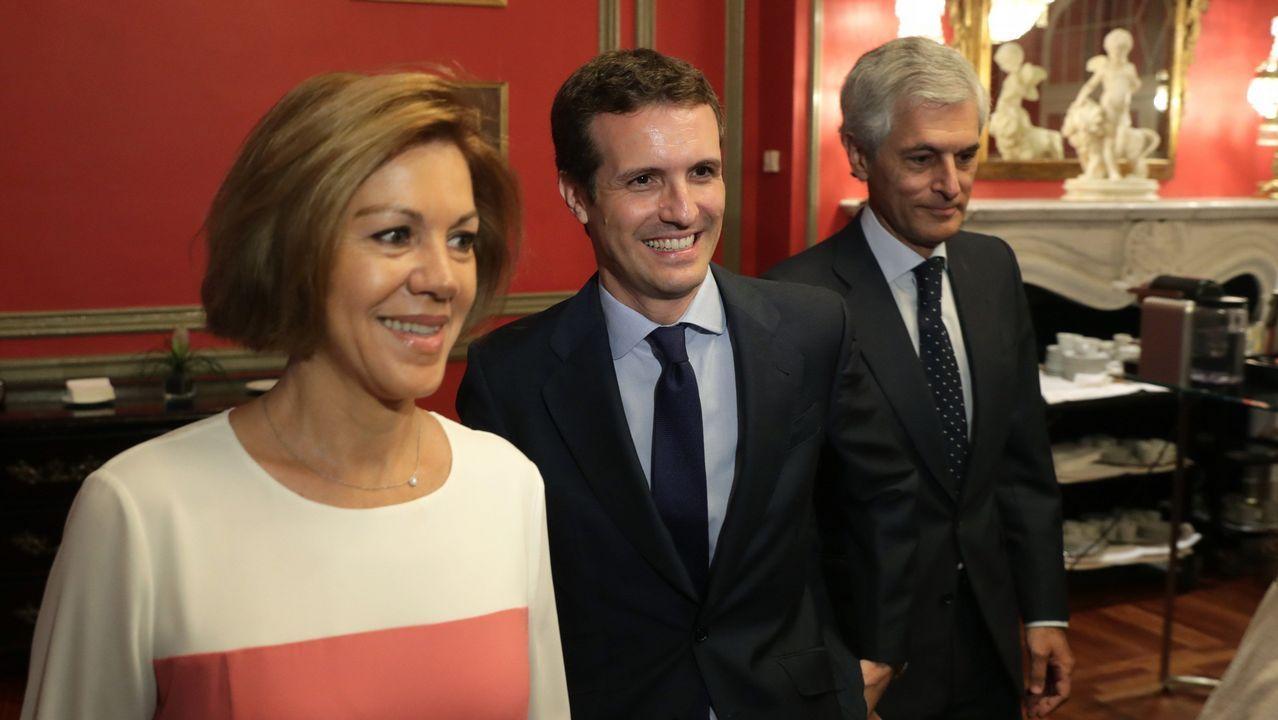 Cospedal, Casado y Suárez Illana, en el acto que eligió la secretaria general para dar a conocer su opción