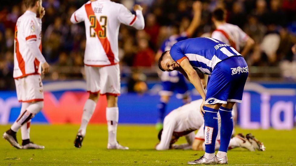 El Deportivo-Rayo Vallecano, en fotos.