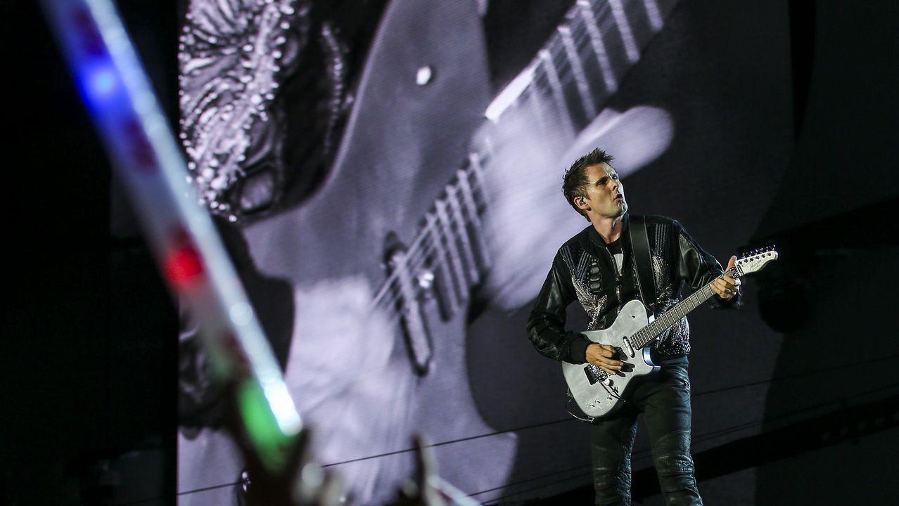 Matthew Bellamy, del grupo británico Muse, en el escenario Mundo del Rock in Rio Lisboa