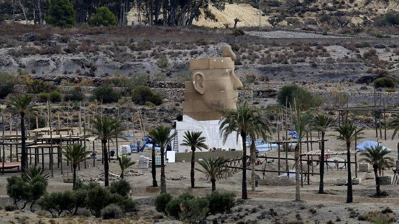 Decorado de «Exodus» en Almería