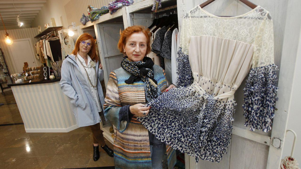 Lola y Chus Sanmartín abrieron recientemente la tienda de moda femenina Dolores Lola