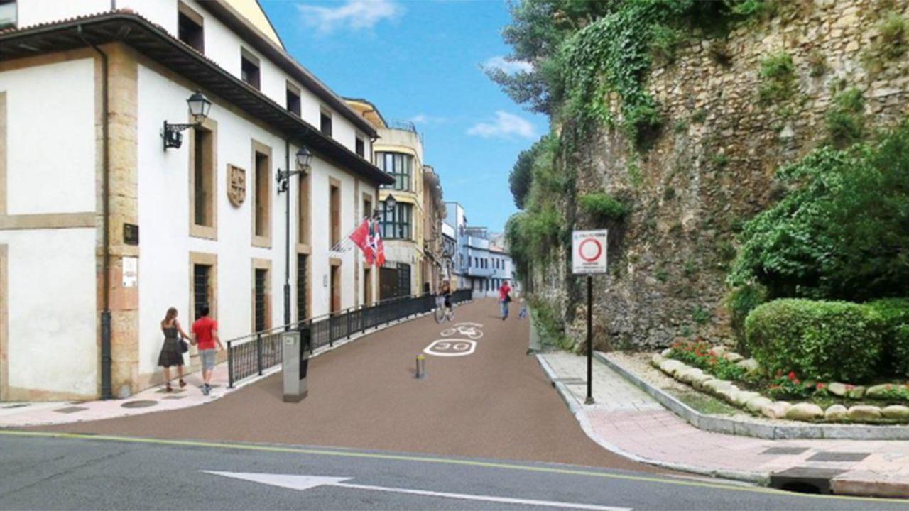 Cimavilla.Proyecto de peatonalización de la calle Paraíso de Oviedo